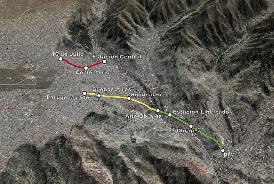 La Paz_Linienführung