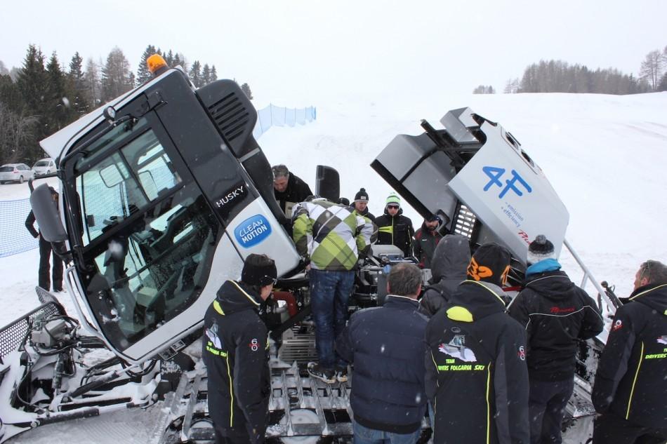 Dimostrazione tecnica all'Alpe di Siusi