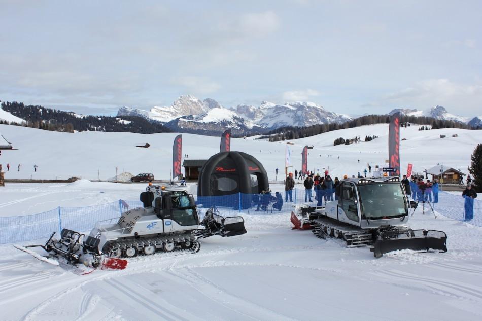 Dimostrazione all'Alpe di Siusi