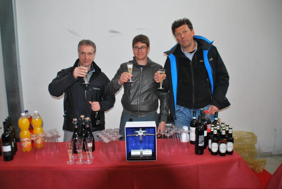 Da sx Attilio Gorza, Diego de Battista (Arabba Fly), Giacomo Trattenero (Leitner Ropeways)