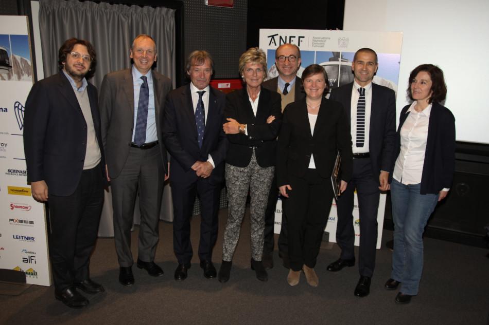 da sinistra: Ludovico Mannheimer, Luca Ubaldeschi, Flavio Roda, Evelina Christillin, Renzo Iorio, Valeria Ghezzi, Massimo Feruzzi, Fabrizia Derriard