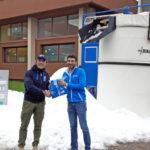 DEMACLENKO porta la neve a Milano