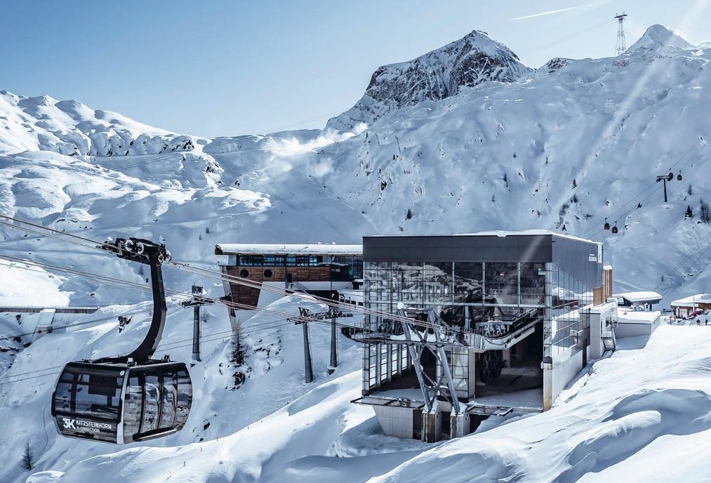 Nel paradiso dei ghiacciai con una cabinovia 3S Doppelmayr