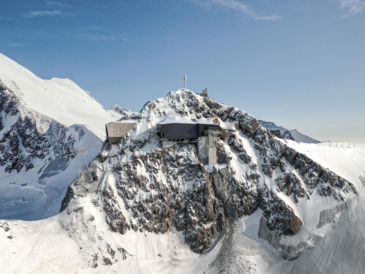 In funivia dall'italia alla svizzeraal via i lavori per l'alpine crossing:Cervinia-zermatt, traversata a 3.800 metri