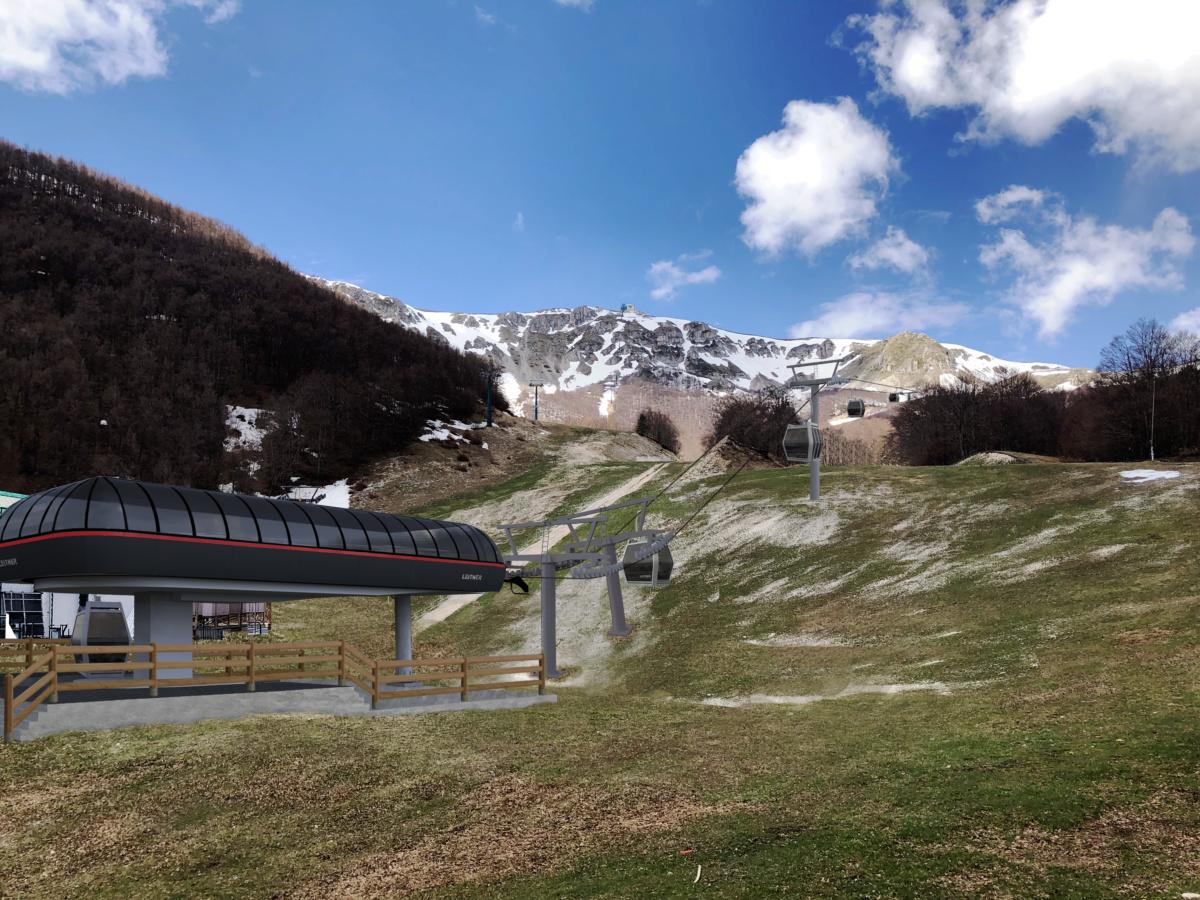 Una nuova cabinovia per il più grande comprensorio sciistico del centro Italia