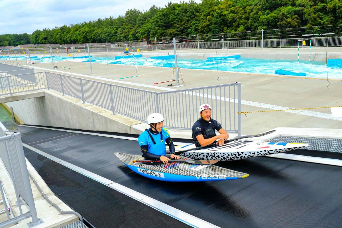 Un tappeto di risalita Sunkid per le canoe alle Olimpiadi